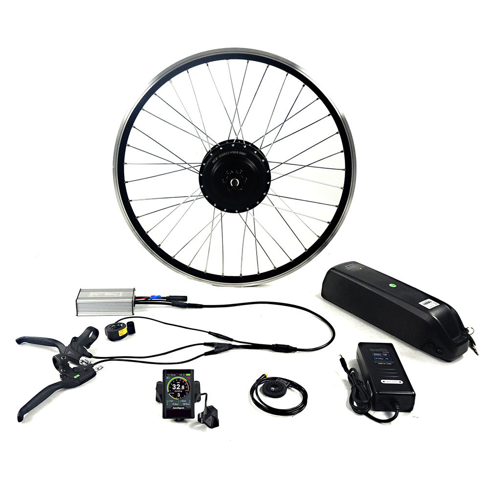 Greenpedel 36v 48v 500W 750w BLDC Rear Wheel Bicycle Conversion Electric Bike Kit with Battery