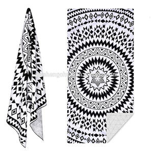 Custom Towels Microfiber Travel Fabric Quick Drying Printing Absorbent Wearable Towel Beach Hair Towels