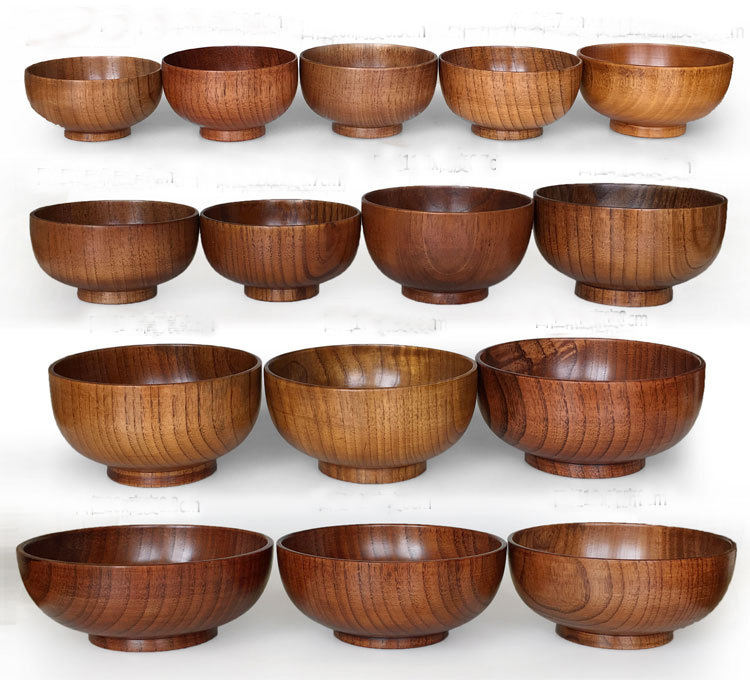 luxury wooden Oval Salad bowl