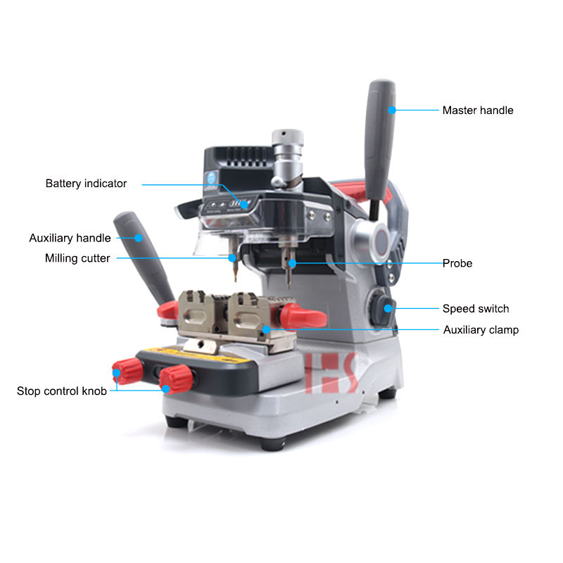 Xhorse XP007 Dolphin Vertical Key Cutting Machine For Laser/Dimple/ Flat Keys 081074 From Hua Shi Locksmith