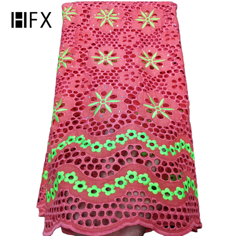 HFX New arrival africa cord lace african swiss voile lace guipure lace fabric
