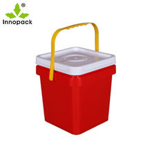 5 liter plastic square bucket food grade