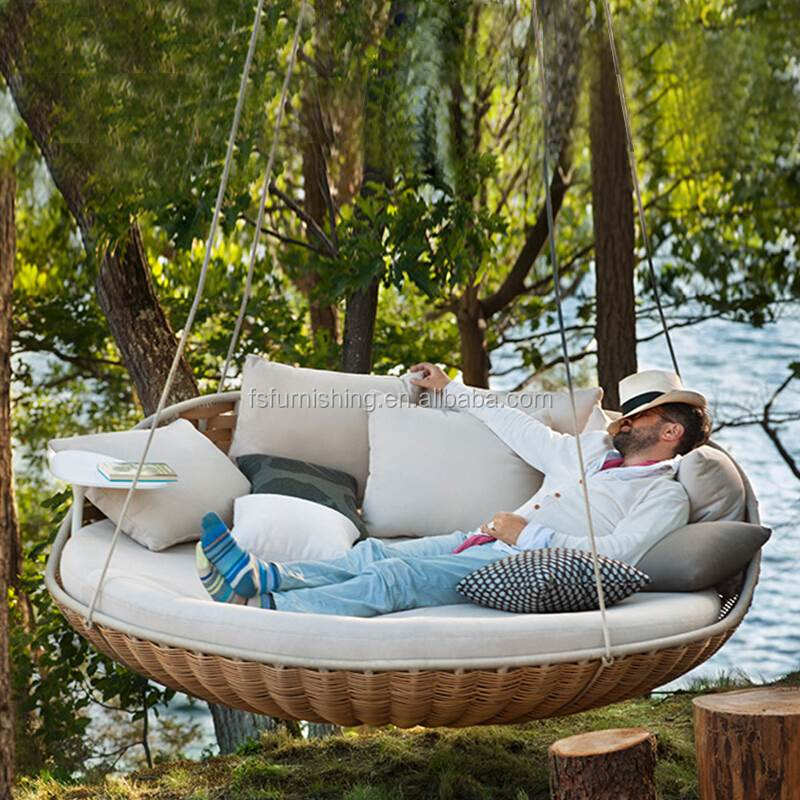MMD02 Outdoor swing adult hammock double balcony single round indoor household basket wicker swing bed chair ins fashion style