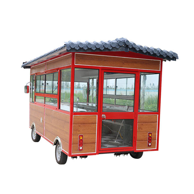Chinese traditional china mobile bike architectural style small food truck cart manufacturers