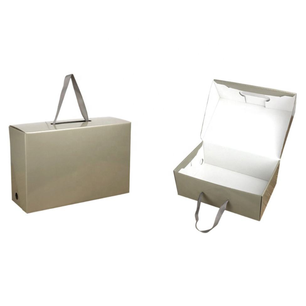 Paper corrugated box collapsible packaging box for shoes