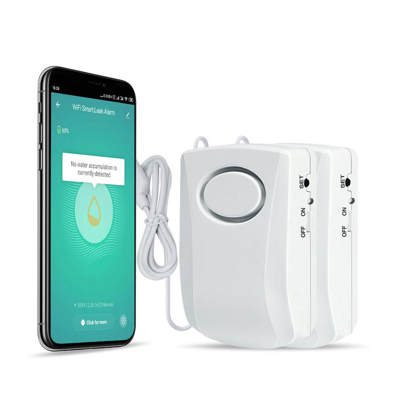 Tuya Zigbee Home Security Overloop Smart Draadloze Systemen Water Alarm Lekkage Sensor Apparatuur Wifi Waterlek Alarm Detector