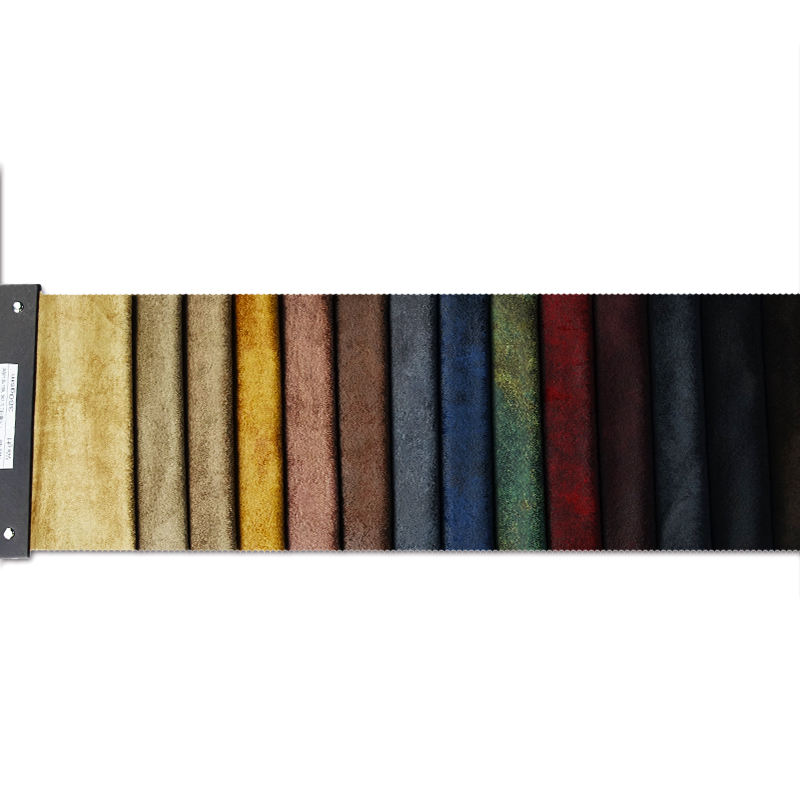 100% polyester 15 colors printed bronzed mohair upholstery fabric