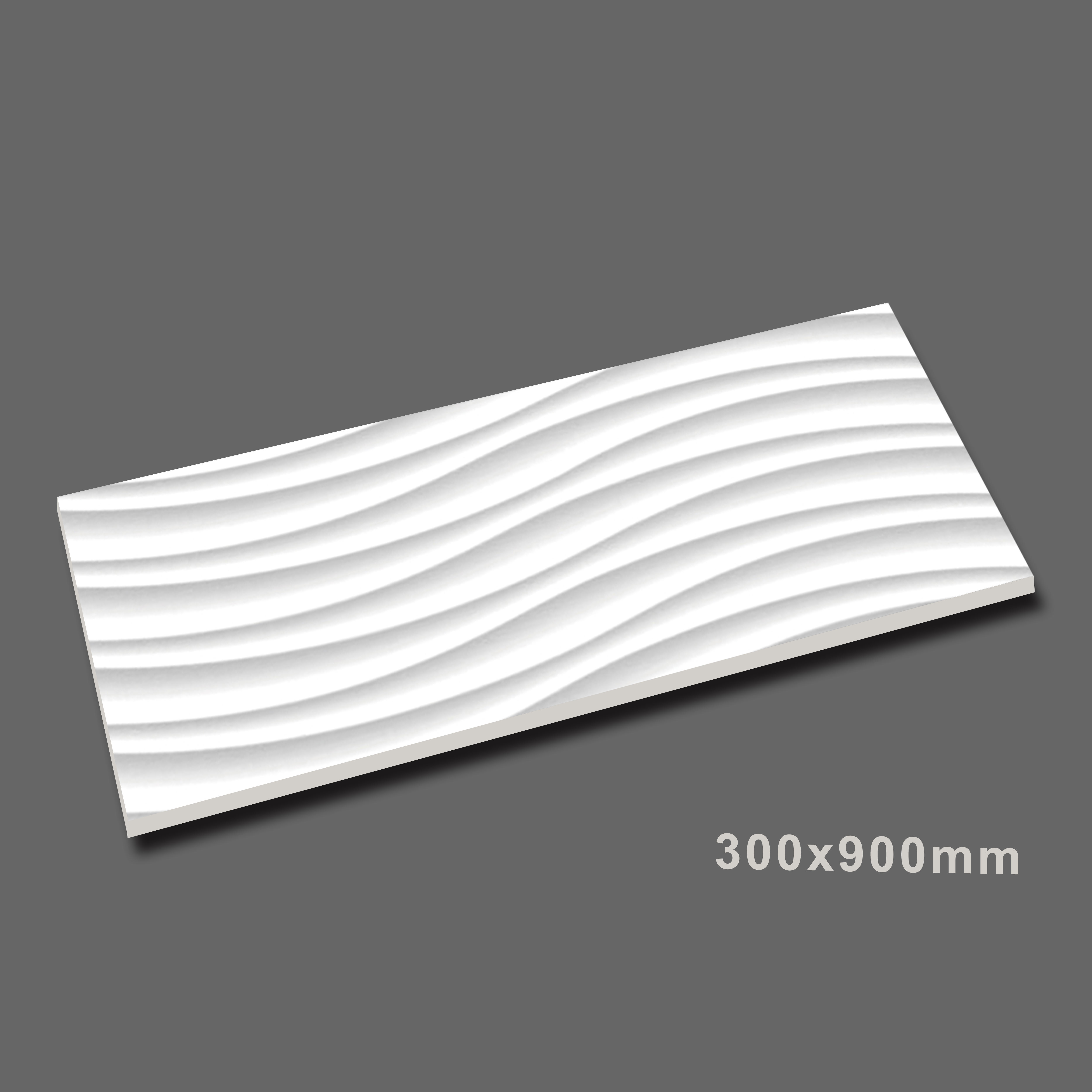 300x900mm Wave patterns 3d Ceramic Wall Tile