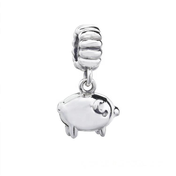Quality assurance silver 925 pig charm zodiac beads for Pandora jewelry