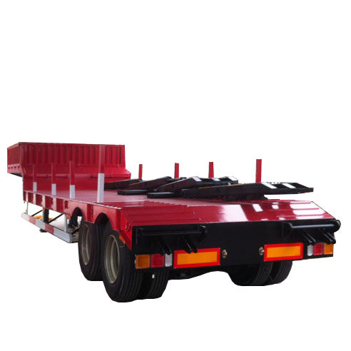 2 as Lowbed Gordijn Zijwand Cimc Flatbed Oplegger Loader Carrier Lowbed Truck Tandem Trailer