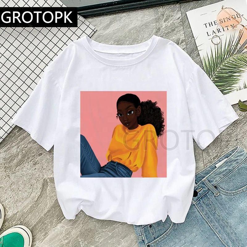 Wholesale 100% Cotton Summer Tops Print Luxury Brand Sitting Pretty TShirts O-Neck Short Sleeve Women Black Girl White Tee Shirt