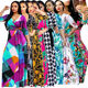 Plus Size Hot Sexy Prnited Long Sleeve Lady Elegant Floral Maxi Summer Dress Women 2020