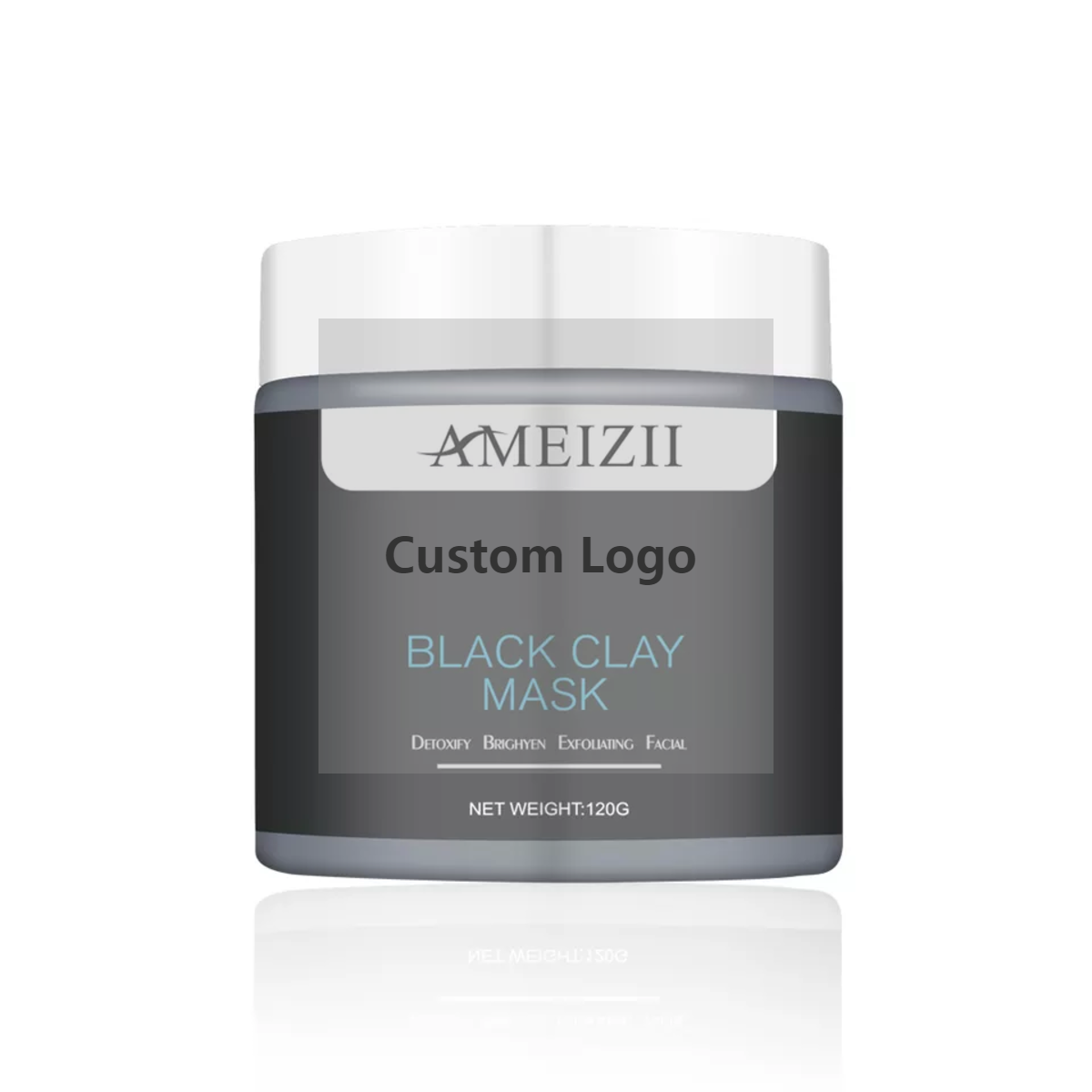 Custom Logo <span class=keywords><strong>Zwart</strong></span> Diepe Reiniging Modder <span class=keywords><strong>Masker</strong></span> Acne Comedondrukker Claymask Antiaging Hydraterende Natuurlijke Korea Facial Klei <span class=keywords><strong>Masker</strong></span>