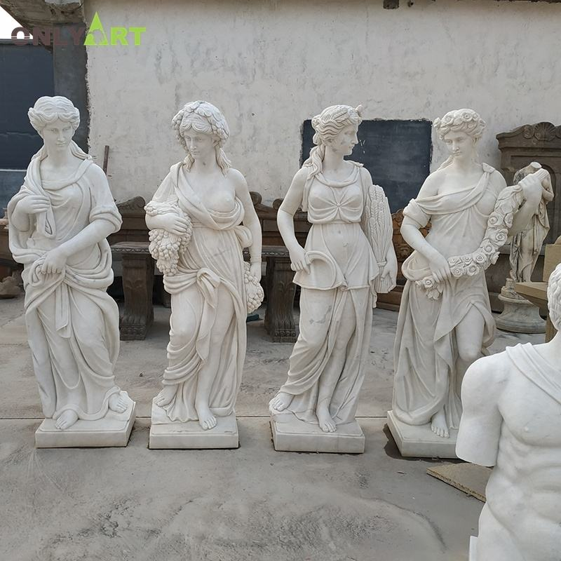 Factory Price Classical Garden Large White Marble Four Season Statue