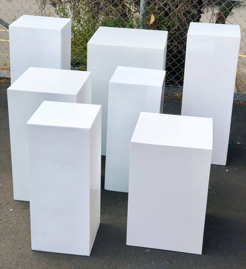 Naxilai acrylic white square stand flower stand wedding pillar column for event wedding decoration pedestal cylinder