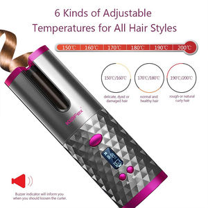 2020 New Hot Selling Professional Automatic Wireless USB Rechargeable Portable Mini Hair Curler//