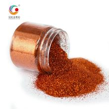 High Quality Extra Fine And Thin Brown Copper Polyester Nail Glitter Pigment Powder For Stage Decoration Bulk Wholesale