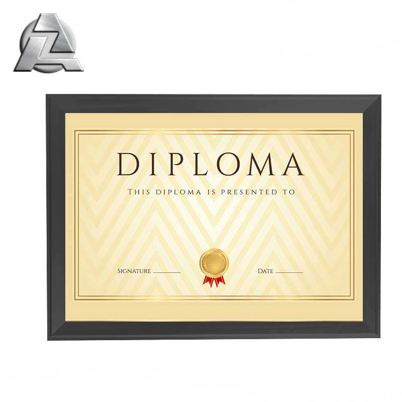 Chinese manufacturers paper diploma photo ZJD-PF929 wholesale metal design aluminum a4 certificate frame