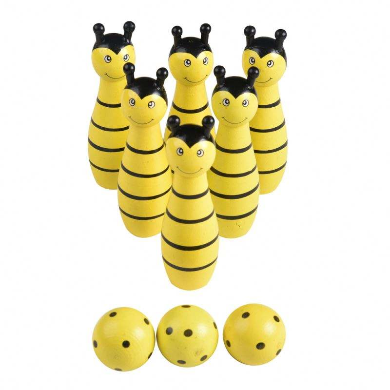<span class=keywords><strong>Bowling</strong></span> di legno bee design <span class=keywords><strong>Bowling</strong></span> <span class=keywords><strong>Set</strong></span> di Giochi Per Adulti Bambini