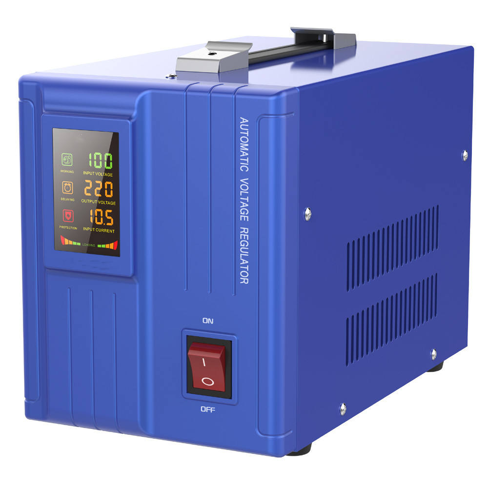 Fase Tunggal 220V Servo Tipe AVR 500/1000/1500/3000/5000/10000VA Rumah Automatic Voltage Stabilizer dan Regulator