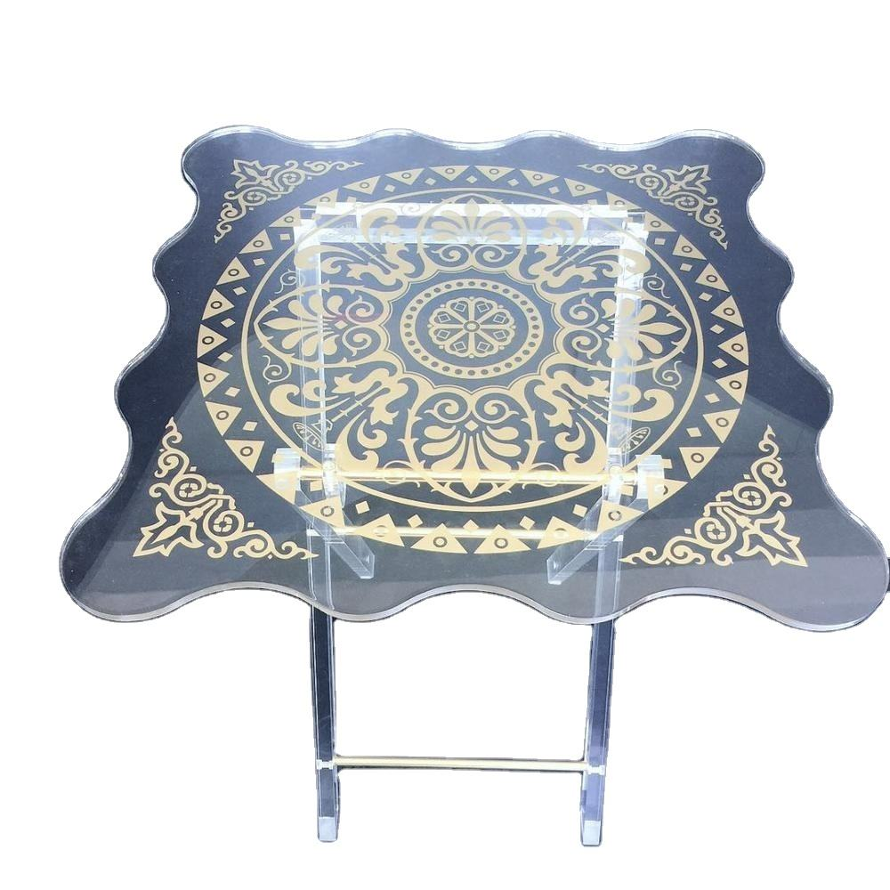 high quality UV printing acrylic furniture acrylic folding table