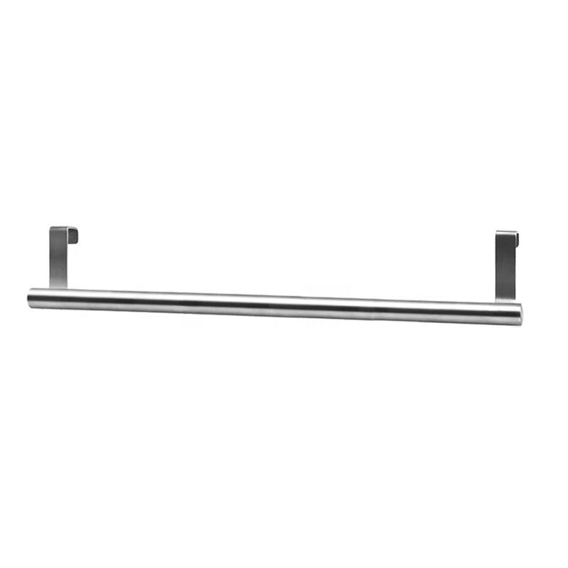 Stainless Steel Kitchen Towel Rail Hook Over Door Towel Rack Holder Over Cabinet towel Bar