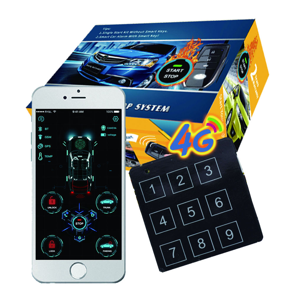 CARDOT 4G Bluetooth Gps Tracking Device Pke Keyless Entry System Car+Alarms