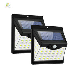 outside waterproof pir motion sensor lamparas solares luz powered wall lamp landscape street lighting jd led solar deck lights