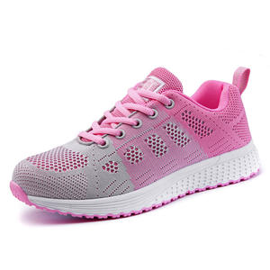 Newest school students footwear mesh upper running girls sports shoes