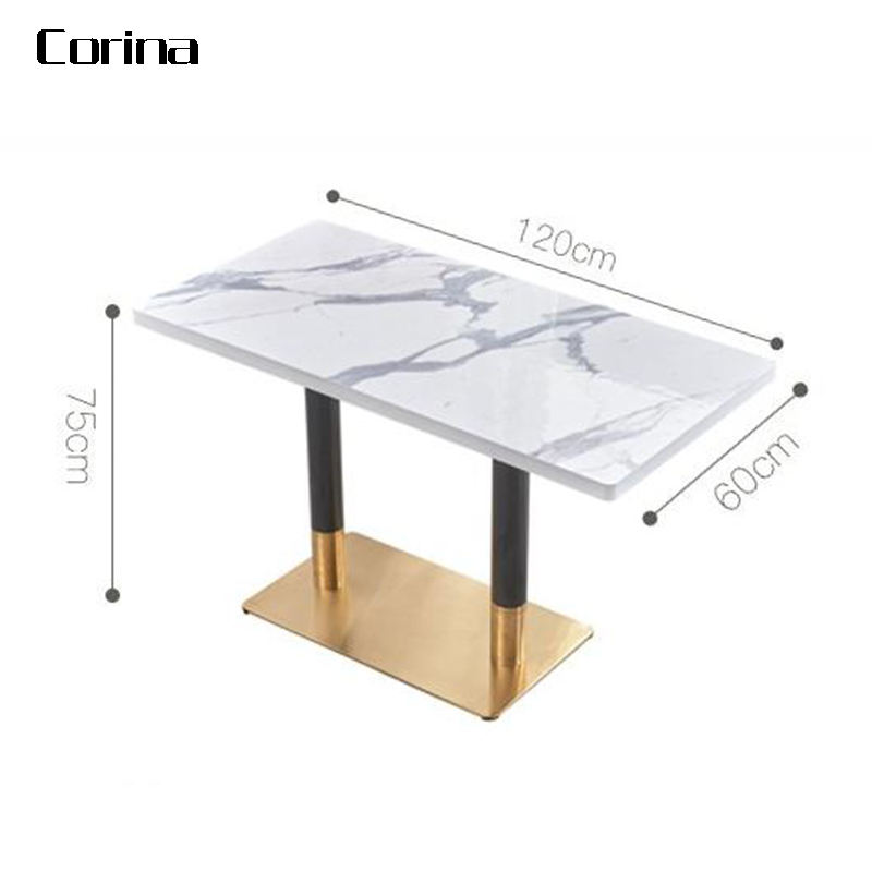 Corina Rectangle marble dining tables cafe table fast food restaurant table