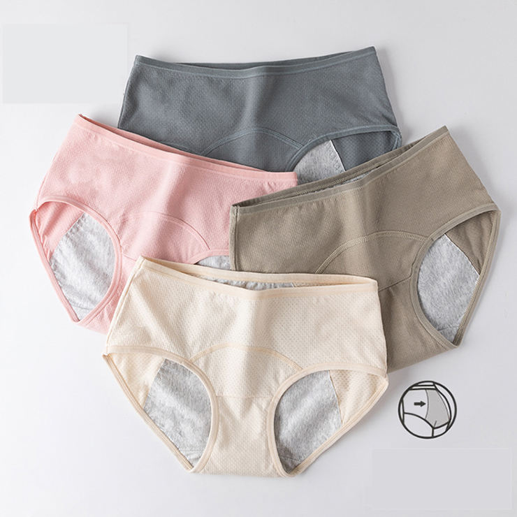 High Quality Breathable Leakproof Period Proof Panty Cotton maternity panties Underwear Menstrual Girl Period Panties for period