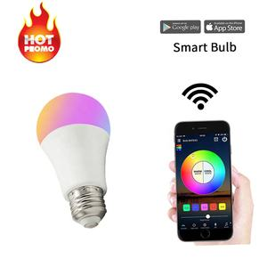 Google Assistent RGB Smart Lichter Glühbirne App + voice Control Helligkeit Einstellung Led-lampe Smart