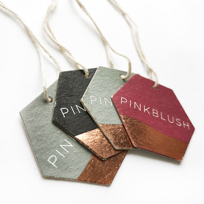 High Quality Circle Recycled Paper Clothing Hanging Tags Custom Hangtags For Clothing Own Logo