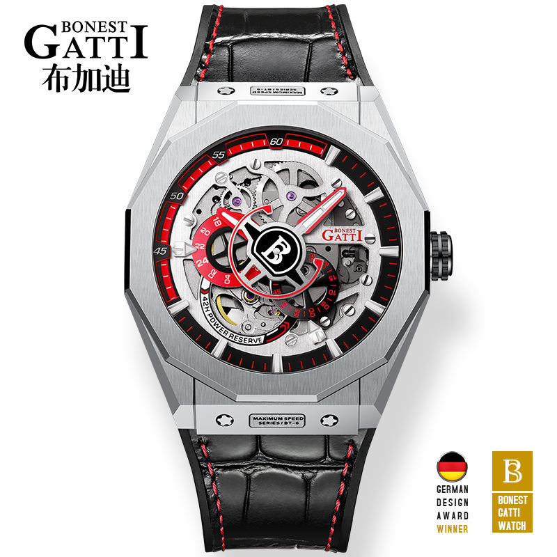 Top Brand Gatti hot selling winner watch hollow out mens watch men high quality watch Luminous Hands Reloj