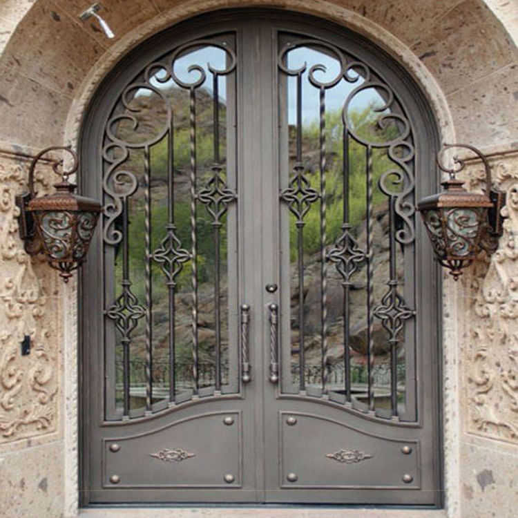 used main security gates double design wrought iron door