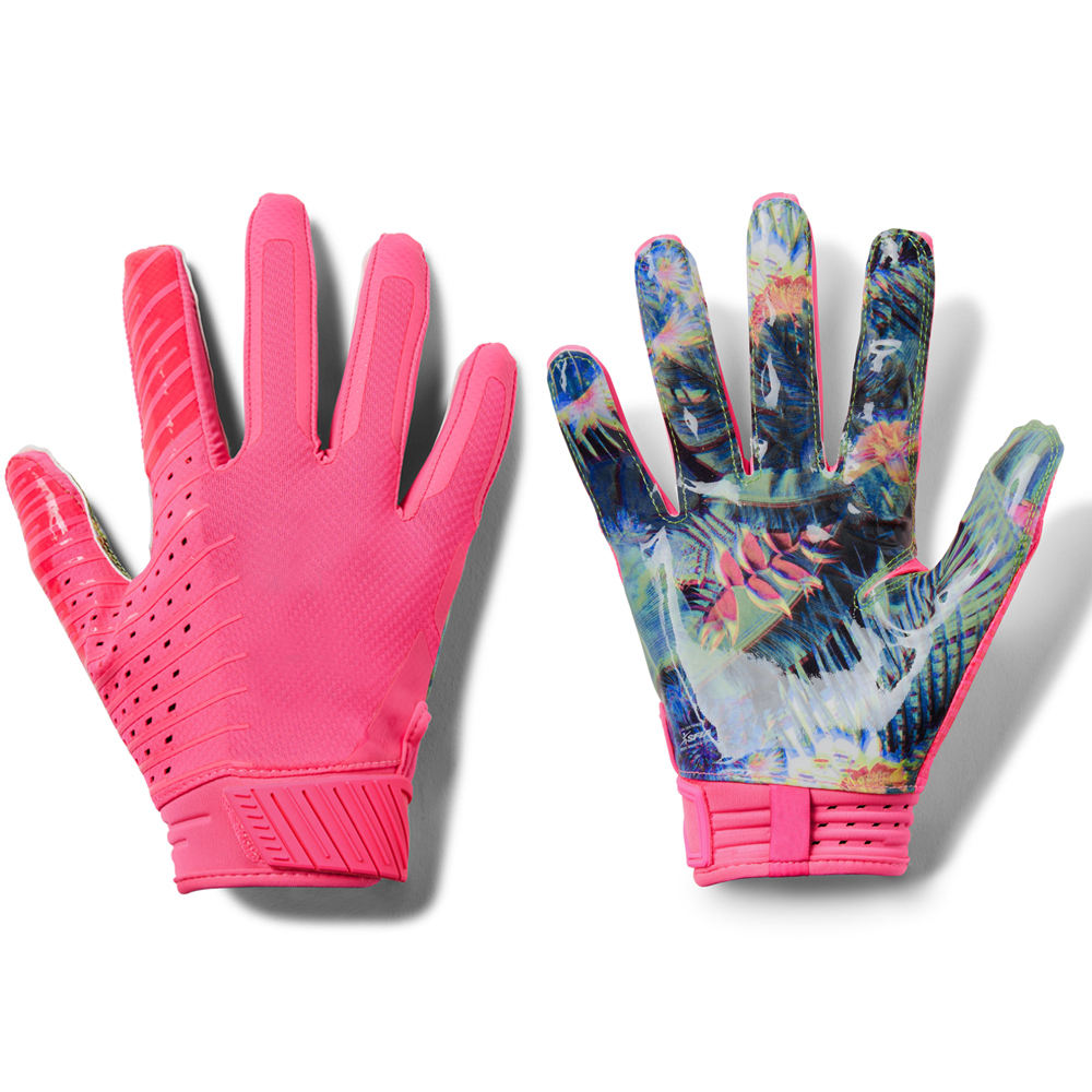 wholesale football gloves high quality Pink Men's Football Gloves