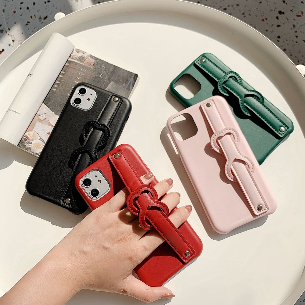 2020 Hot Sale Leather for iPhone Case Hand Strap 11 Pro Max PU Fashion Mobile Cases 7 6s 8Plus X Max for Girls Women Pink Cover
