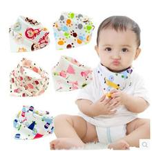 34 Styles Pattern Print Soft Comfortable Cotton Baby Bandana For Boys & Girls Infant Double-Layer Buckle Saliva Baby Bibs