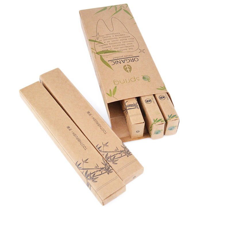 eco-friendly bpa free bamboo toothbrush for adult adn kids 2020 new arrivals 4 set packs hotel or home use