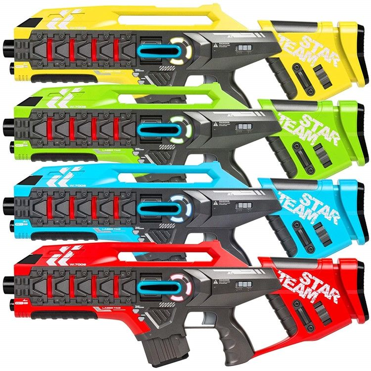 Yapears 2 Stks/doos Laser Tag Guns Blaster Speelgoed Guns Pistool Infrarood Battle Set Outdoor Cs Game Wapen Familie Activiteit Model