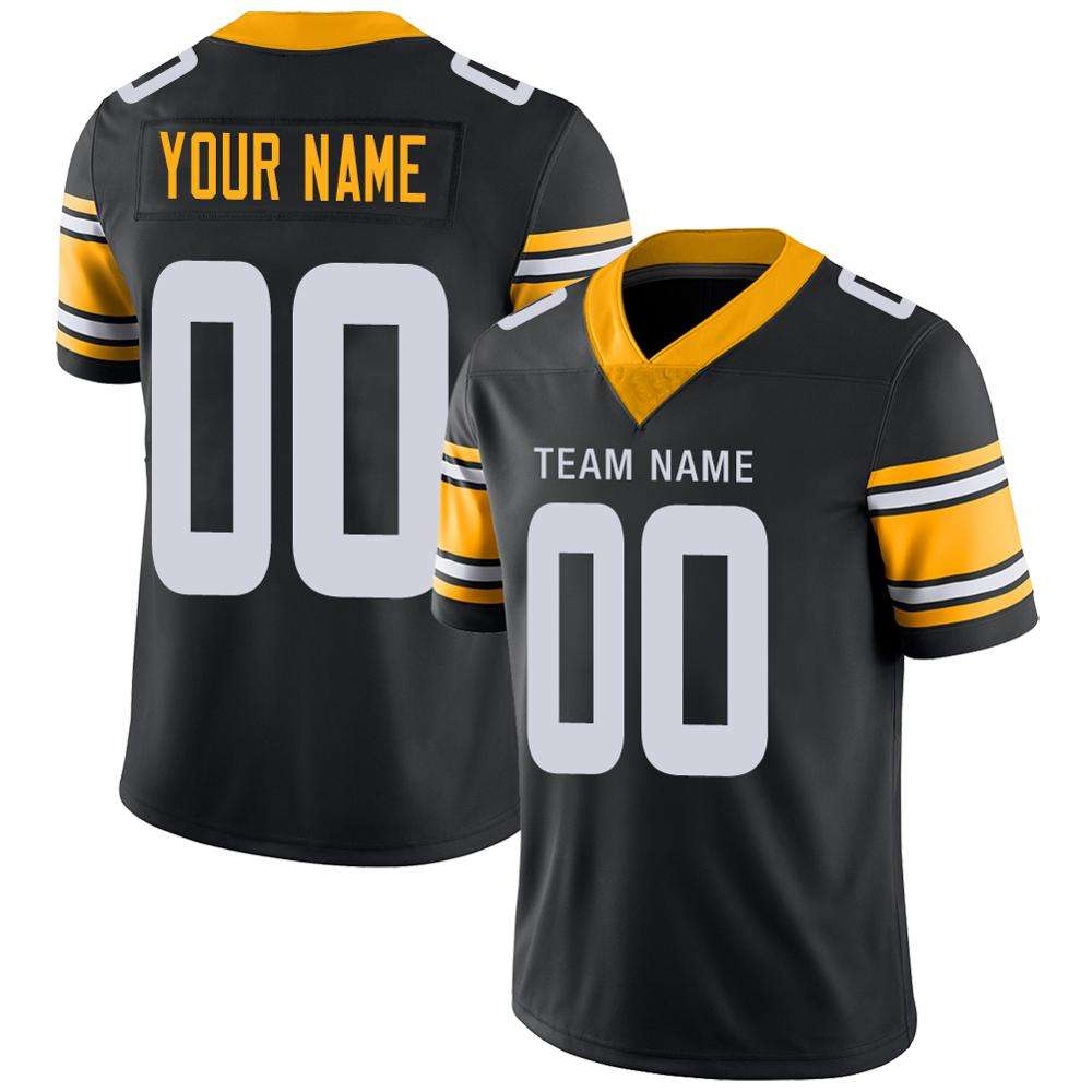 Pittsburgh Sublimated Football Jersey American Football Jersey Custom Made Womens Aerican Football Jersey