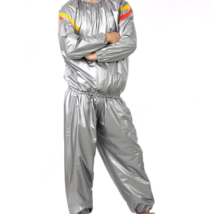 USA Lovers Polyester Sauna Suit Heavy Sweat Track Fat Slimming Boxing Gym Coat