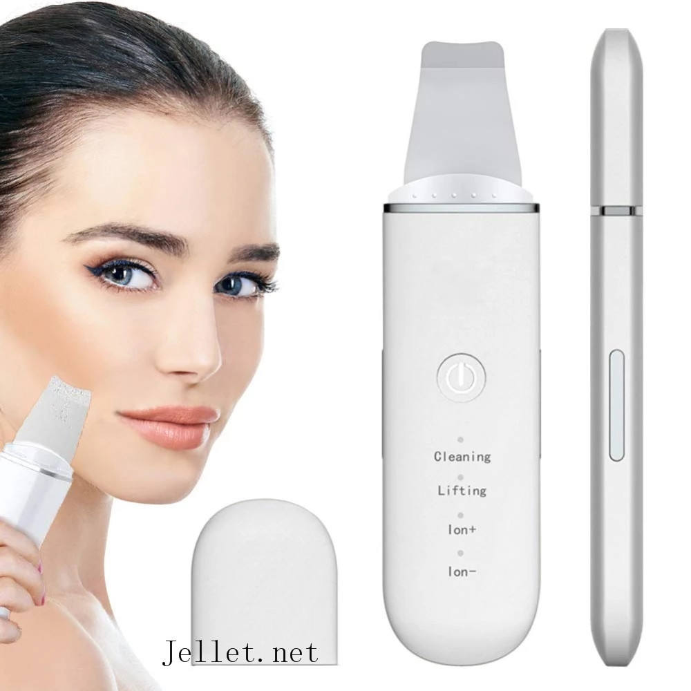 2020 New Beauty Equipment Ultrasonic Skin Scrubber For Face New Portable Stainless Steel Skin Scrubber Professional Device
