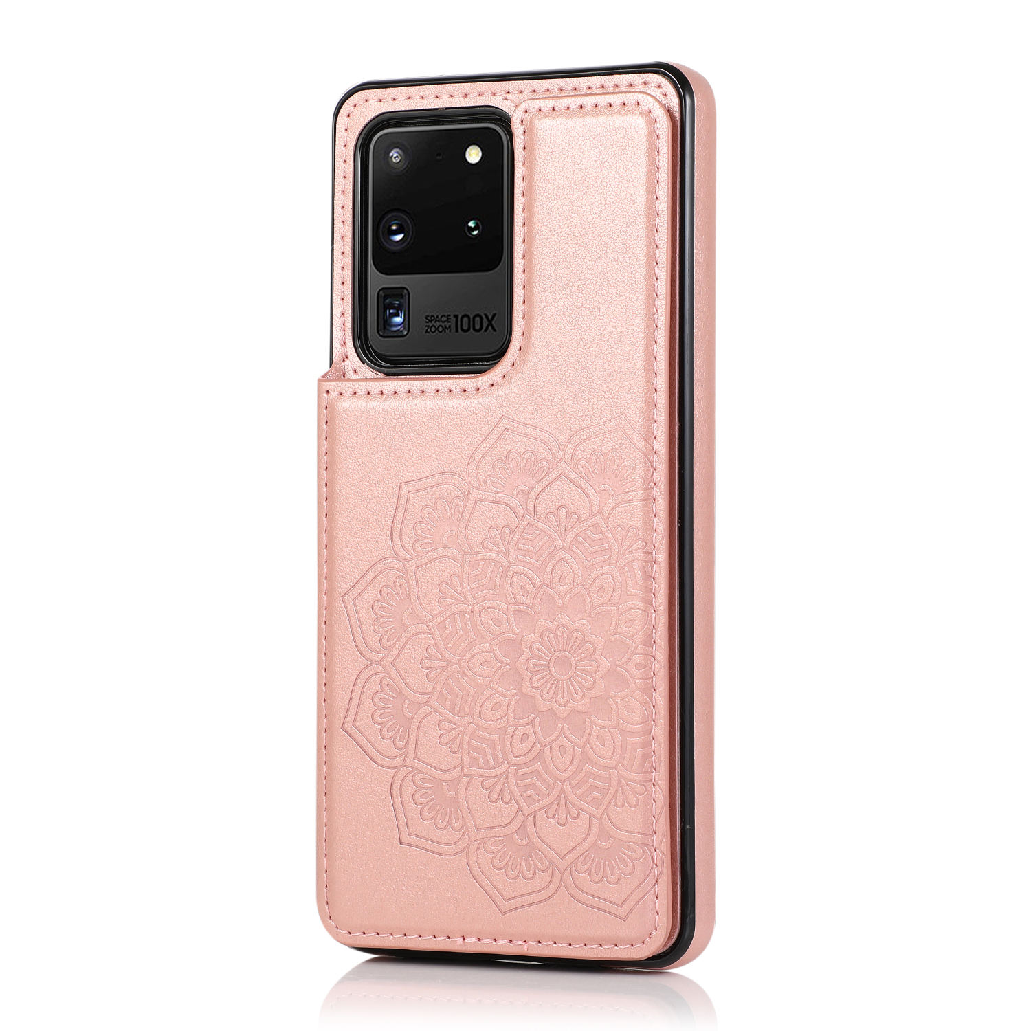 Für Samsung S20 S21 UItra A71 A51 A31 Geprägte <span class=keywords><strong>Abdeckung</strong></span> Amazon Hot Double Buckle Bags Schöne Mandala Flower Leather Phone Case