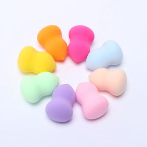Mixed Color Gourd Shape Eco Friendly High Quality Soft Microfiber Beauty Makeup Brush Cleaner Sponge Cosmetic Puff Blender Set