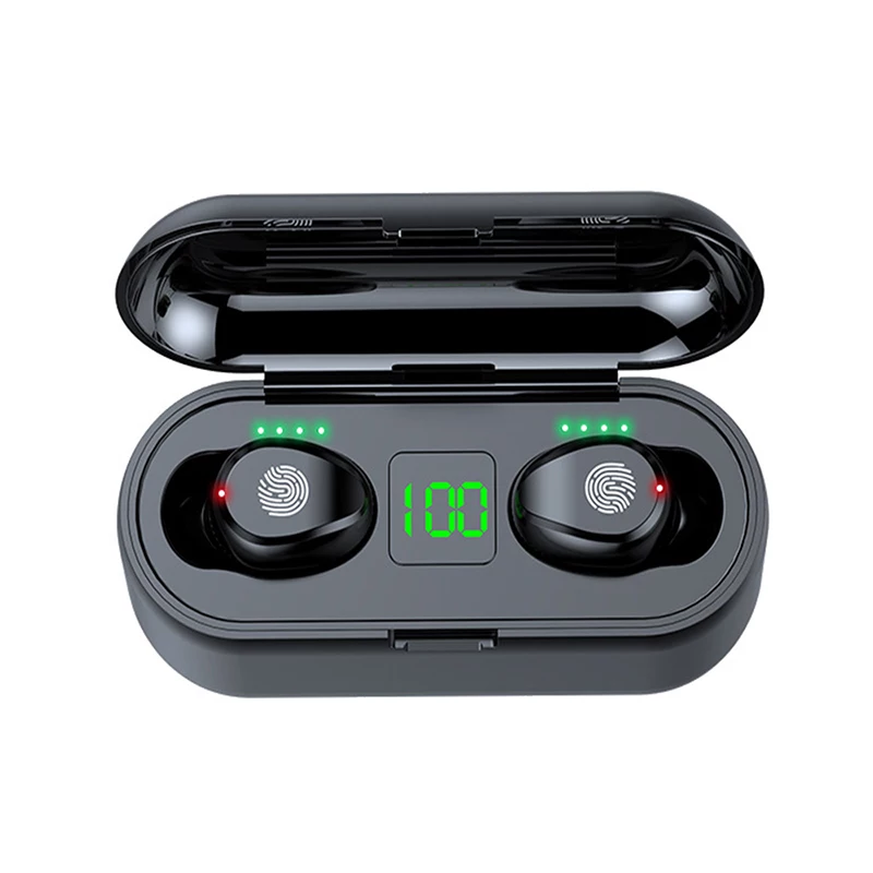 Single Earphone Bluetooth 5.0 Wireless Earbuds One Touch Button Operation Gaming Headset