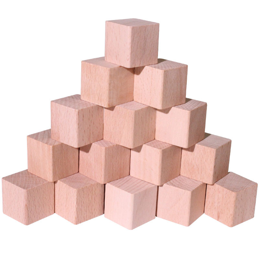 Natural beech wood cube 60mm unfinished cube blocks