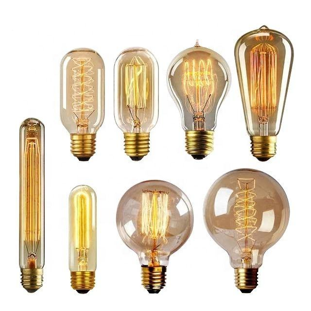 Decorative 25W 40W 60W Vintage light Bulbs E26 E27 B22 retro filament bulb edison lamp ST64 A19 G80 G95 110v 220v edison bulb
