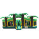 big commercial zoo bounce house with slide blower for kids