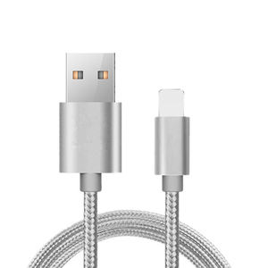 USB Cable Charger Nylon Braided 2.4A Fast charging cable For iPhone